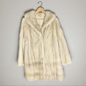 Mink real fur coat. MCM. Blonde